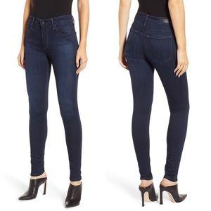 Ag Farrah High Waist Skinny Dark Wash Stretch Jean